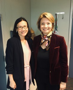 Ms Chen Chen Lee with Ms Armelle Douaud, Head of Secretariat, Directorate-General for External Policies of the Union Committee on Foreign Affairs, European Parliament