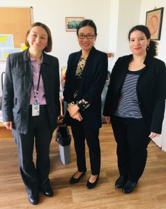 Ms Chen Chen Lee with Ms Lise Talbot Barre, Special Advisor to the Director, Cooperation, Development and Human Rights, Ministry for Europe and Foreign Affairs and Ms Laetitia Bilgorai, Southeast Asia Division, Ministry for Europe and Foreign Affairs